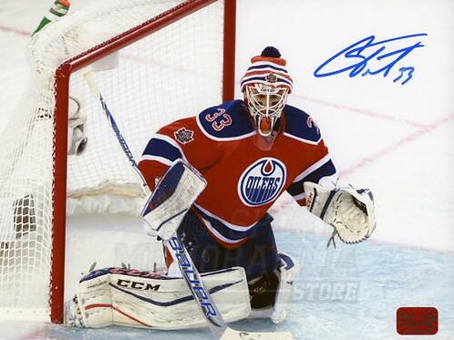 Cam Talbot Edmonton Oilers Signed Autographed NHL Heritage Classic Action 8x10