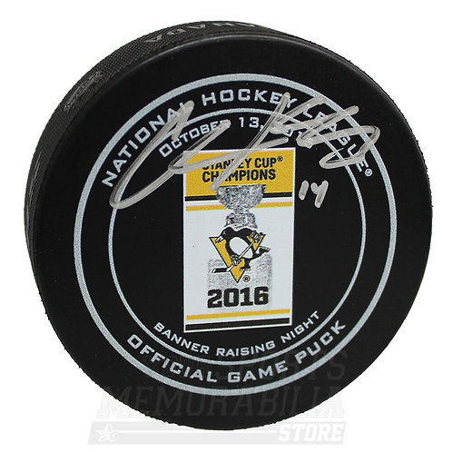 Chris Kunitz Pittsburgh Penguins Signed Autographed 2016 Champs Banner Game Puck