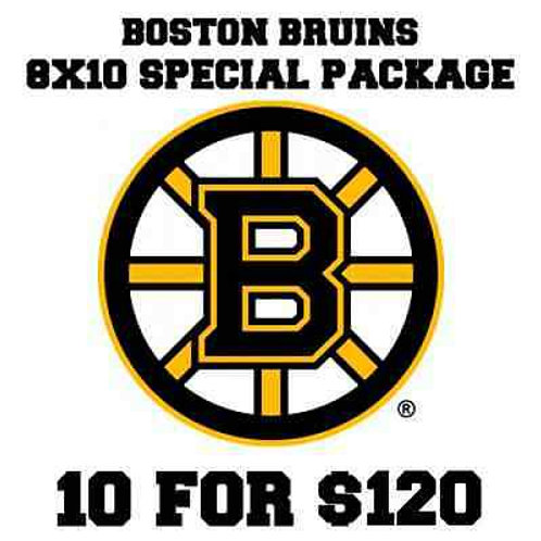 10 Boston Bruins autographed signed 8x10s Tim Thomas, McQuaid Krejci Boychuk