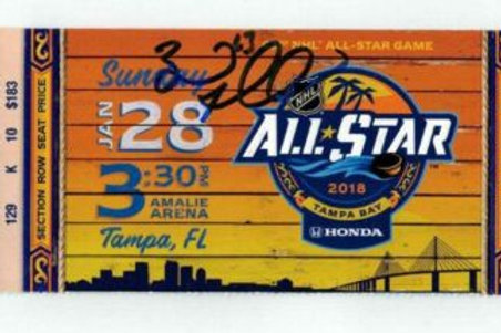 Brad Marchand Boston Bruins Signed Autographed 2018 All Star Full ticket
