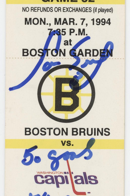 Cam Neely Boston Bruins signed Original 1994 ticket inscribed 50 goals 44 games
