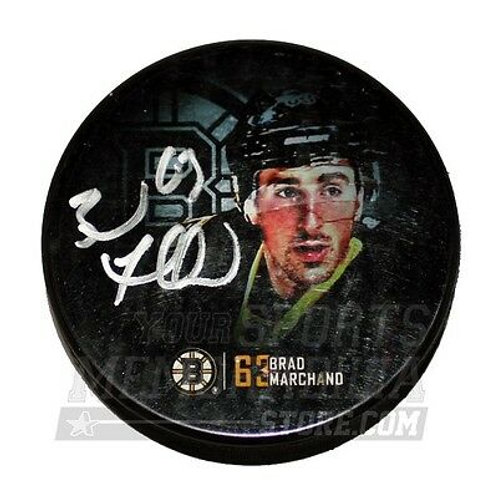 Brad Marchand Boston Bruins Signed Autograph Stadium Exclusive Photo Hockey Puck