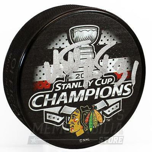 Antti Raanta Chicago Blackhawks Signed Autographed 2015 Stanley Cup Champs Puck