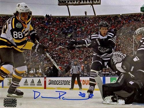 David Pastrnak Boston Bruins Signed Autographed 2019 Winter Classic Goal 8x10