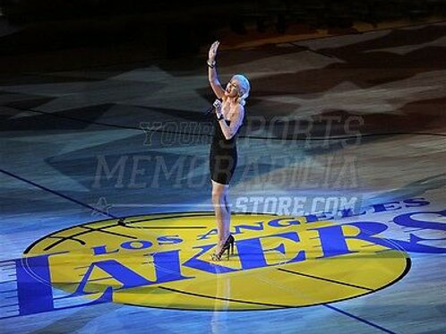 Christina Aguilera Los Angeles Lakers National Anthem  8x10 11x14 16x20 1292