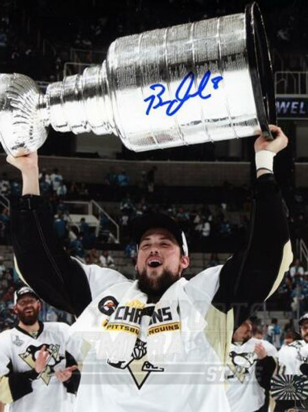 Brian Dumoulin Pittsburgh Penguins Signed Autographed Raising Stanley Cup 16x20