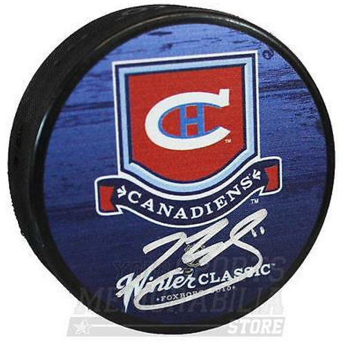 Brendan Gallagher Montreal Canadiens Signed Autographed Winter Classic Puck