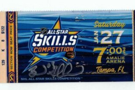 Brad Marchand Boston Bruins Signed Autographed 2018 All Star Skills  ticket
