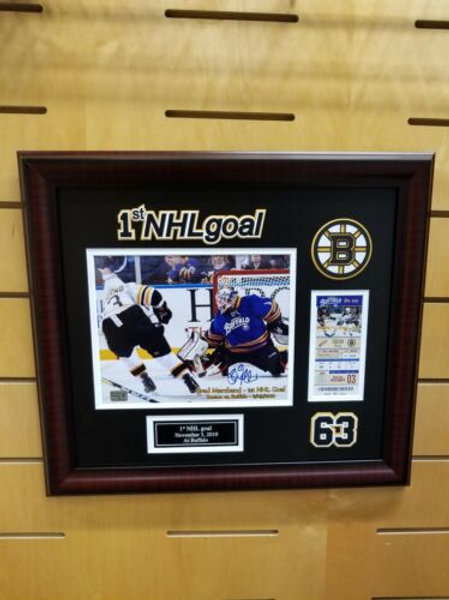 Brad Marchand Boston Bruins Signed Autographed 1st NHL Goal 8x10 & Ticket Frame