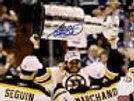 Adam McQuaid signed Boston Bruins raising  Stanley Cup 8x10 Seguin, Marchand