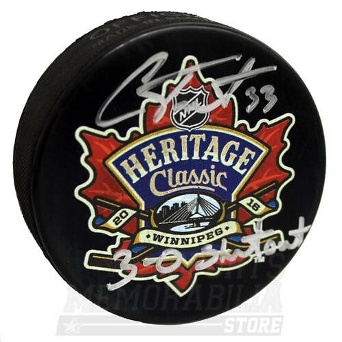 Cam Talbot Edmonton Oilers Signed Autographed Heritage Classic Shutout Puck