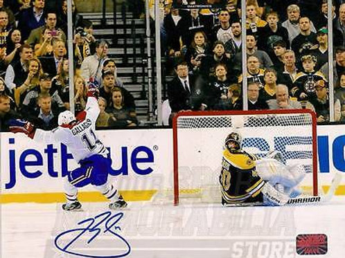 Brendan Gallagher Montreal Canadiens Signed Autographed Goal Celebration 16x20