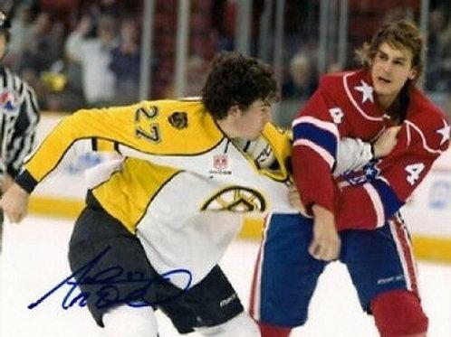 Adam McQuaid Providence Bruins signed 8x10 a Fighting