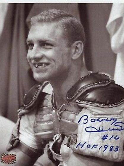 Bobby Hull Chicago Blackhawks signed 8x10 Pads Only HOF 1983 Inscription