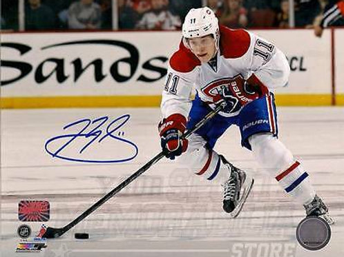 Brendan Gallagher Montreal Canadiens Signed Autographed Away Action 8x10