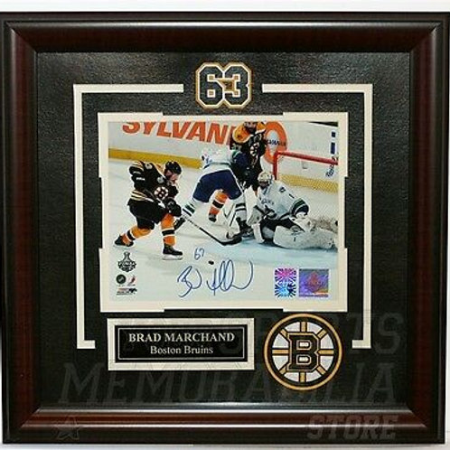 Brad Marchand Boston Bruins Signed 2011 Stanley Cup Finals Framed 8x10