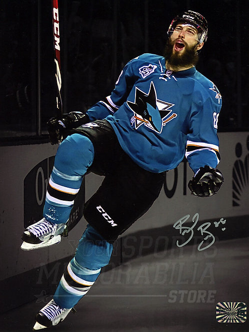 Brent Burns San Jose Sharks Signed Autographed Goal Scream Spotlight 16x20