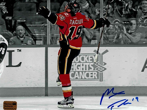 Matt Tkachuk Calgary Flames Signed Autographed Spotlight Goal Celly 16x20