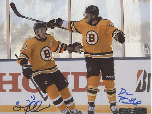 Brad Marchand David Pastrnak Boston Bruins DUAL signed 8x10