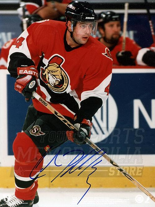 Chris Phillips Ottawa Senators Signed Autographed Action 8x10