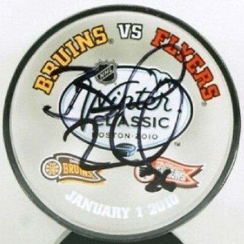 Blake Wheeler Winnipeg Jets signed acrylic Winter Classic puck Boston Bruins