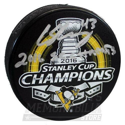 Conor Sheary Pittsburgh Penguins Sign Autograph Stanley Cup Champs Inscribe Puck