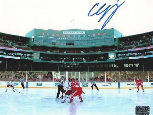 Charlie McAvoy Boston Bruins Signed Boston University 8x10 Fenway Park sky B
