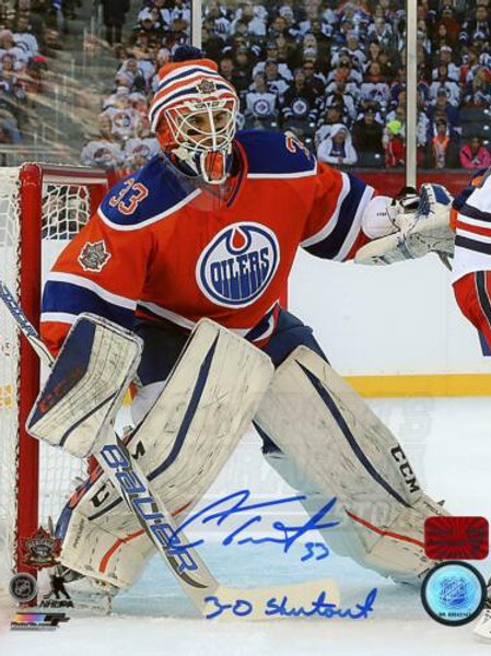 Cam Talbot Edmonton Oilers Signed Autographed Heritage Classic Shutout 8x10 PF