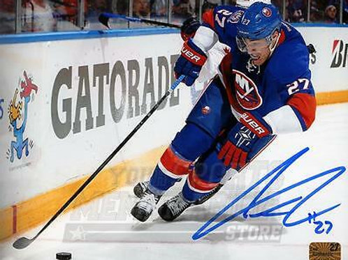 Anders Lee New York Islanders Signed Autographe?d Home Action 8x10