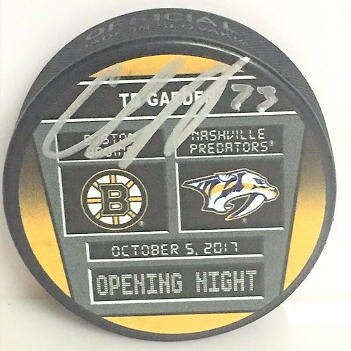 Charlie McAvoy Boston Bruins Signed Autograph limited edition opening game puck