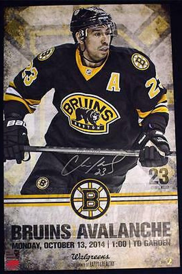 Chris Kelly Boston Bruins Signed Autographed 2014-15 Game Day Roster Poster