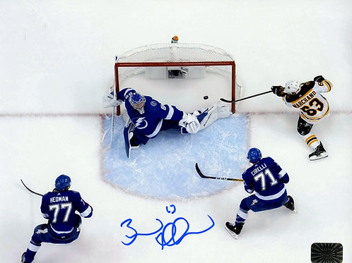 Brad Marchand Boston Bruins Signed Autographed Overhead Goal vs Tampa 8x10