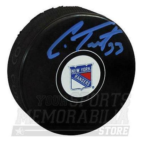 Cam Talbot New York Rangers Signed Autographed Rangers Hockey Puck - B