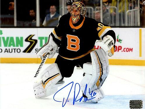 Tuukka Rask Boston Bruins Signed Autographed 2019-20 Alternate Jersey 8x10 B