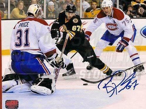 Benoit Pouliot Boston Bruins Signed vs Carey Price Montreal Canadians 16x20