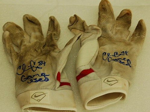 Chris Carter  New York Mets Boston Red Sox  Game Used Batting Gloves