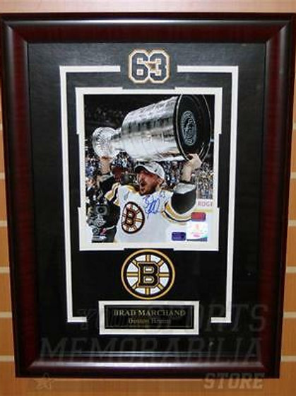 Brad Marchand Boston Bruins Signed 2011 Stanley Cup Champions 8x10 Framed