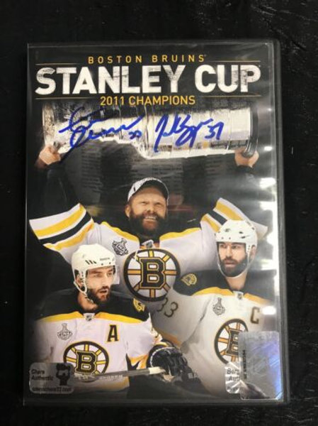Brad Marchand & Zdeno Chara Boston Bruins Signed DVD Stanley Cup 2011 Champioins
