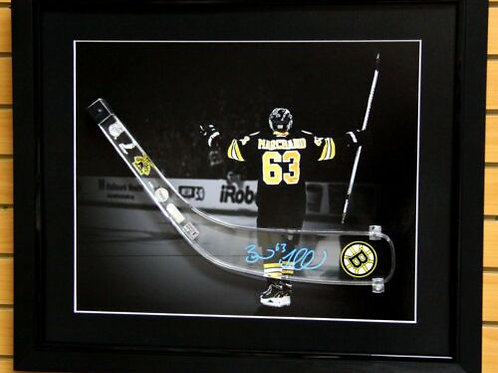 Brad Marchand Boston Bruins Signed Autographed Acrylic Stick Blade Display Box