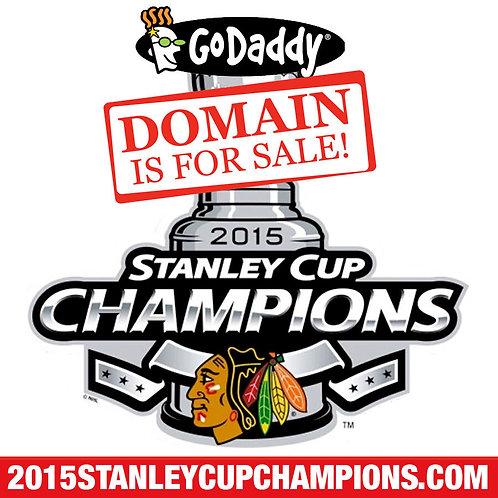 2015 STANLEY CUP CHAMPIONS .COM - BLACKHAWKS - Hockey - Domain Name - GoDaddy