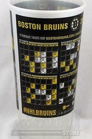Boston Bruins 2014-15 Schedule Plastic Souvenir Drinking Cup Bergeron Rask