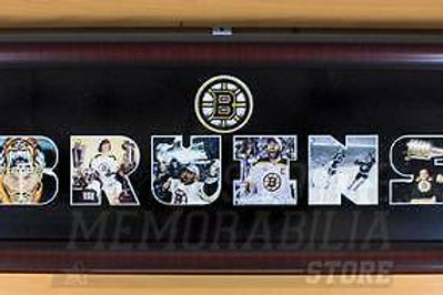 Boston Bruins Cut Out Photo Display 12x30 Framed