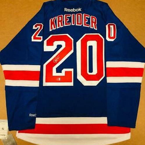Chris Kreider New York Rangers Signed Autographed Rangers Home Jersey