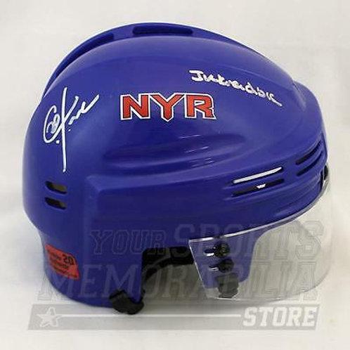 Chris Kreider New York Rangers Signed Autographed Inkreidible Mini Helmet