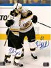 Brad Marchand Patrice Bergeron Boston Bruins signed Stanley Cup celeb goal 8x10