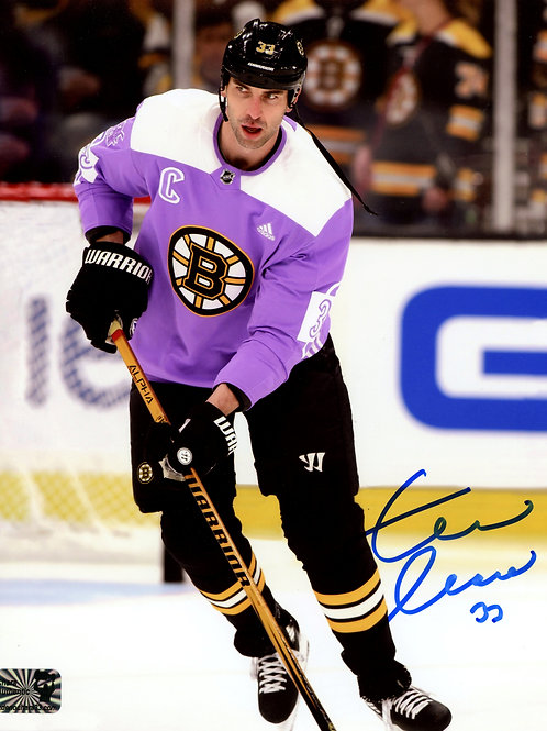 Zdeno Chara Boston Bruins Signed Autographed Hockey Fights Cancer 8x10 B