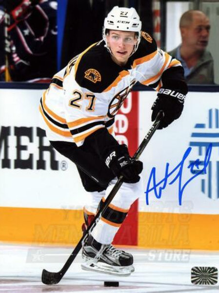 Austin Czarnik Boston Bruins Signed Autographed Away Action 8x10 V