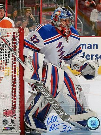 Antti Raanta New York Rangers Signed Autographed Away Goaltending Action 8x10