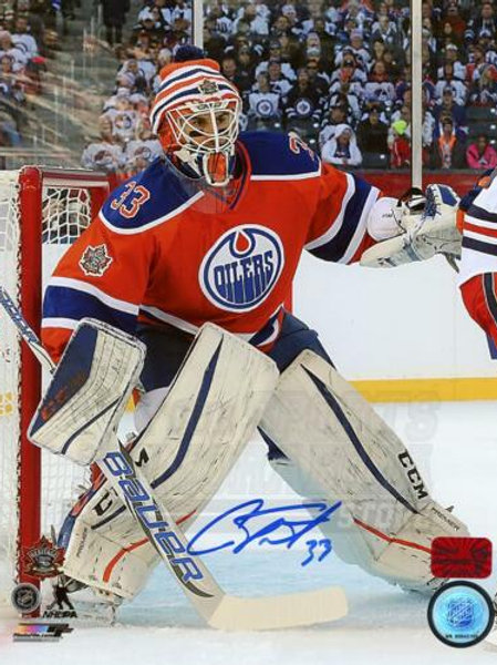 Cam Talbot Edmonton Oilers Signed Autographed NHL Heritage Classic 8x10 PF