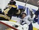 Adam McQuaid Boston Bruins crushes Max Lapierre Cup Finals 8x10 11x14 16x20 1897